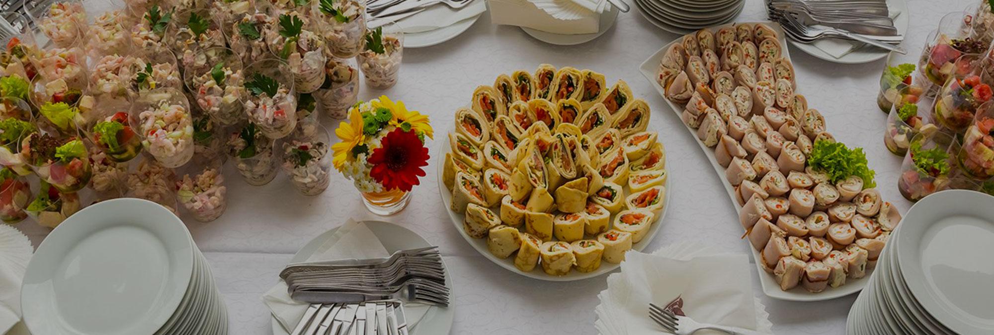 Servizio Catering <br>per eventi e cerimonie